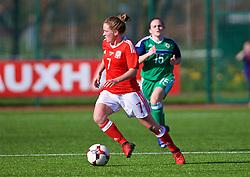 YSTRAD MYNACH, WALES - Wednesday, April 5, 2017: Wales' Rachel Rowe in action during the Women's International Friendly match against Northern Ireland at Ystrad Mynach. (Pic by Laura Malkin/Propaganda)