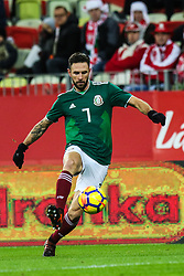 November 13, 2017 - Gdansk, Poland - Miguel Layun (MEX)  during the International Friendly match between Poland and Mexico at Energa Stadium in Gdansk, Poland on November 13, 2017. (Credit Image: © Foto Olimpik/NurPhoto via ZUMA Press)