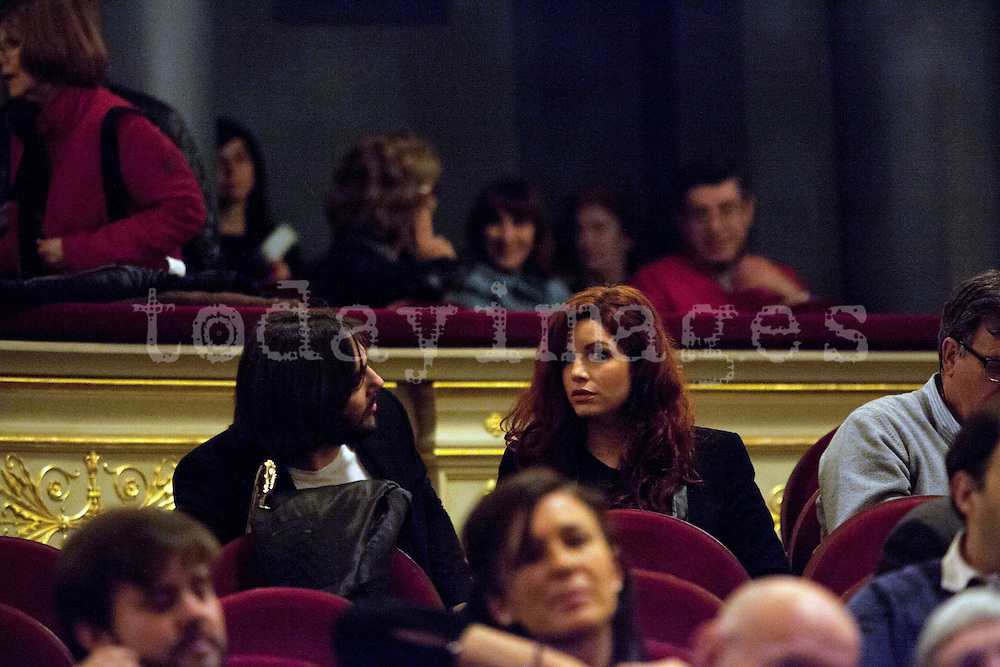 Joaquin Cortes before the performing of  Estrella Morente  at the Teatro Real  in Madrid, 2013