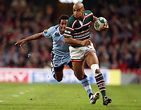 Photo: Rich Eaton.<br /> <br /> Cardiff Blues v Leicester Tigers. Heineken Cup. 29/10/2006. Tom Varndell of Leicester Tigers attacks
