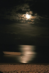 Moonrise On Beach