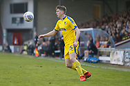 Wimbledon midfielder Steve Seddon (15)  during the EFL Sky Bet League 1 match between Scunthorpe United and AFC Wimbledon at Glanford Park, Scunthorpe, England on 30 March 2019.