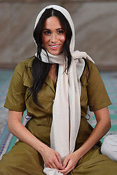 The Duchess of Sussex during a visit to Auwal Mosque, the oldest mosque in South Africa, on day two of her tour of Africa with her husband the Duke of Sussex. PA Photo. Picture date: Tuesday September 24, 2019. See PA story ROYAL Tour . Photo credit should read: Tim Rooke/PA Wire
