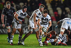 Marcello Violi of Zebre in action during todays match<br /> <br /> Photographer Craig Thomas/Replay Images<br /> <br /> Guinness PRO14 Round 7 - Dragons v Zebre - Saturday 30th November 2019 - Rodney Parade - Newport<br /> <br /> World Copyright © Replay Images . All rights reserved. info@replayimages.co.uk - http://replayimages.co.uk