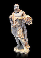 Roman statue of Hercules from the mid 2nd cent. AD excavated from the Via Appia. Hercules is portrayed as a mature man at rest, his naked body wrapped in a lion skin; he probably geld his club in his left hand. His style of dress was typical of that used in the Roman theatre. The statue of Hercules is a reworking of a Greek original dating from around the 2nd or 3rd cent. BC .  Inv  115165, The National Roman Museum, Rome, Italy .<br /> <br /> If you prefer to buy from our ALAMY PHOTO LIBRARY  Collection visit : https://www.alamy.com/portfolio/paul-williams-funkystock/roman-museum-rome-sculpture.html<br /> <br /> Visit our ROMAN ART & HISTORIC SITES PHOTO COLLECTIONS for more photos to download or buy as wall art prints https://funkystock.photoshelter.com/gallery-collection/The-Romans-Art-Artefacts-Antiquities-Historic-Sites-Pictures-Images/C0000r2uLJJo9_s0