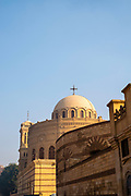 Early morning image of the Monastery and Church of St. George, Kom Ghorab, Old Cairo, Egypt.