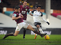 Football - 2020 / 2021 Emirates FA Cup - Round Four - Fulham vs Burnley - Craven Cottage<br /> <br /> Fabio Carvalho of Fulham  is challenged by James Tarkowski of Burnley<br /> <br /> COLORSPORT/ANDEW COWIE