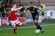 Wimbledon defender Tennai Watson (2), on loan from Reading, in action  during the The FA Cup 3rd round match between Fleetwood Town and AFC Wimbledon at the Highbury Stadium, Fleetwood, England on 5 January 2019.