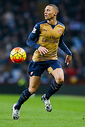 Kieran Gibbs of Arsenal in action - Mandatory byline: Rogan Thomson/JMP - 13/12/2015 - FOOTBALL - Villa Park Stadium - Birmingham, England - Aston Villa v Arsenal - Barclays Premier League.