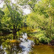 Looking west from the D&R Canal towards the Raritan River in Hillsborough, NJ