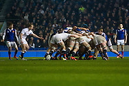 England win Scrum during the 2015 Under 20s 6 Nations match between England and France at the American Express Community Stadium, Brighton and Hove, England on 20 March 2015.