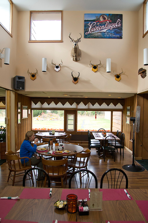 Interior of the Konteka in White Pine, Michigan near the Porcupine Mountains State Park.