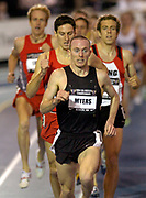 Rob Myers wins the 1,500 meters in 3:40.80 in the USA Track & Field Indoor Championships at Reggie Lewis Track & Athletic Center at Roxbury Community College on Saturday, Feb. 28, 2004 in Roxbury Crossing, Mass.