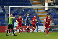 Andrew Considine scores for Aberdeen during the Scottish Premiership match between Ross County FC and Aberdeen FC at the Global Energy Stadium, Dingwall, Scotland on 16 January 2021.
