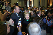 Senator Hillary Clinton at the Swearing-in of the Honorable David A. Patterson at the 55th Governor of New York  at The New York State Capitol in the Assembly Chambers on March 17, 2008