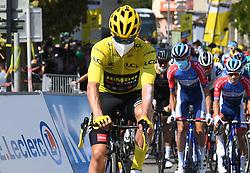 La Tour Du Pin Isere; le 15/09/2020 : Le slovene ROGLIC Primoz TEAM JUMBO - VISMA maillot Jaune au depart de la 16 eme etape du tour de France entre La Tour du Pin et Villard De Lans Isere.//ALLILIMOURAD_1750.1506/2009161603/Credit:ALLILI MOURAD/SIPA/2009161604 / Sportida
