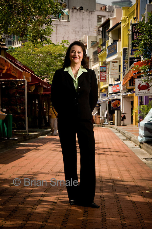 "Deb Henretta, Group President Proctor & Gamble Asia.  Photographed in Singapore for Fortune Magazine's ""50 Most Powerful Women"" list.   September 2007."