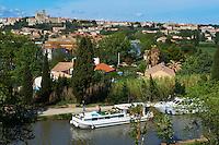 France, Herault (34), Beziers et le Canal du Midi classé Patrimoine Mondial de l'UNESCO // France, Herault department, Beziers and the Canal du Midi