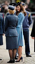 © Licensed to London News Pictures. 07/02/2016. <br /> LONDON, UK. The DUCHESS OF CAMBRIDGE visits St Clements Dane Church and The Royal Courts of Justice for the 75th Anniversary of the formation of the Air Cadet Corps, London, Sunday 07 February 2016. Photo credit : Hannah McKay/LNP