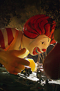 Ronald McDonald Balloon at The Macy's Balloon Inflation session held at West 79th and Central Park West on November 26, 2008 in New York City..A tradition since 1927, the giant character balloons are slowly blown up and brought to life in the streets around the American Museum of Natural History. The enormous balloons take up two full city blocks. Nets and sandbags are used to keep the balloons from escaping during the night.
