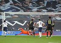 Football - 2020 /2021 Premier League - Tottenham Hotspur vs Newcastle United<br /> <br /> Callum Wilson of Newcastle scores the controversial goal from the penalty spot in injury time, at the Tottenham Hotspur Stadium.<br /> <br /> COLORSPORT/ANDREW COWIE