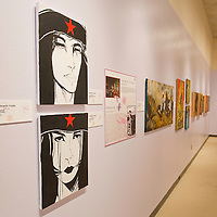 021413       Brian Leddy<br /> Jolene Yazzie is one of the female artists featured in a recent art opening at the Navajo Nation Museum.