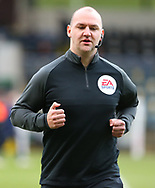 Referee Bobby Madley warm up during the EFL Sky Bet League 1 match between Rochdale and Wigan Athletic at the Crown Oil Arena, Rochdale, England on 16 January 2021.
