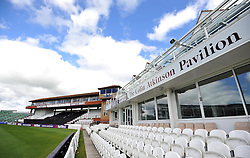 General view of the County Ground, Taunton. - Photo mandatory by-line: Harry Trump/JMP - Mobile: 07966 386802 - 03/06/15 - SPORT - CRICKET - Chris Gayle Press Conference - The County Ground, Taunton, England.