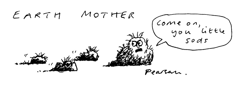 """(Earth mother with """"little sods"""")"""