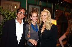 FRANCESCO & GAEL BOGLIONE with their daughter LARA BOGLIONE at a party to celebrate the publication on 'A Year in My Kitchen' by Skye Gyngell held at The Petersham Nurseries, Petesham, Surrey on 19th October 2006.<br /><br />NON EXCLUSIVE - WORLD RIGHTS