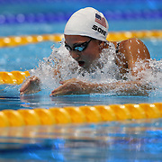 Rebecca Soni, USA, in action during the Women's 100m Breastroke heats during the swimming heats at the Aquatic Centre at Olympic Park, Stratford during the London 2012 Olympic games. London, UK. 29th July 2012. Photo Tim Clayton