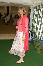 SABRINA GUINNESS at the 2005 Cartier International Polo between England & Australia held at Guards Polo Club, Smith's Lawn, Windsor Great Park, Berkshire on 24th July 2005.<br />