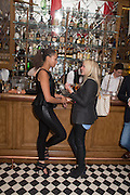 MISCHKA FOGEL; LAURA WAITE, - JOHNNIE WALKER BLUE LABEL  Summer Party at Mr Fogg's.  15 Bruton Lane, Mayfair, London. 12 June 2013.