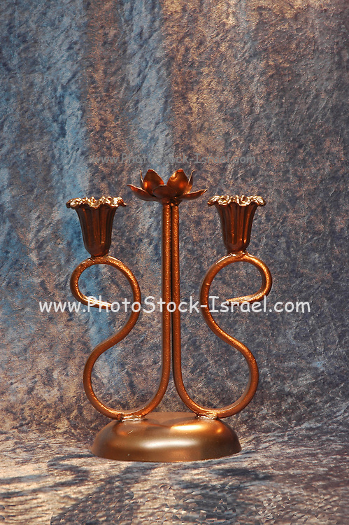 Handmade wrought iron candlestick