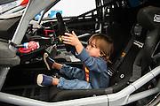 June 25 - 27, 2015: Lamborghini Super Trofeo Round 2-3, Watkins Glen NY. Enrique Bernoldi's young child