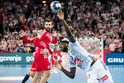 Dika Mem of France during handball match between National teams of Croatia and France on Day 7 in Main Round of Men's EHF EURO 2018, on January 24, 2018 in Arena Zagreb, Zagreb, Croatia.  Photo by Vid Ponikvar / Sportida