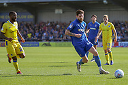 AFC Wimbledon midfielder Anthony Wordsworth (40) dribbling during the EFL Sky Bet League 1 match between AFC Wimbledon and Bristol Rovers at the Cherry Red Records Stadium, Kingston, England on 19 April 2019.