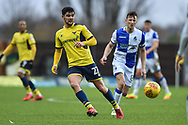 Oxford United Midfielder, Alex Mowett (27) during the EFL Sky Bet League 1 match between Oxford United and Bristol Rovers at the Kassam Stadium, Oxford, England on 10 February 2018. Picture by Adam Rivers.