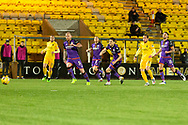 GOAL 1-0 Scott Pittman of Livingston scores his sides first goal of the match during the Scottish Premiership match between Livingston and Dundee United at Tony Macaroni Arena, Livingstone, Scotland on 5 December 2020.