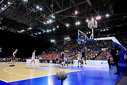 A general view as Bristol Flyers attack - Photo mandatory by-line: Ryan Hiscott/JMP - 26/01/2020 - BASKETBALL - Arena Birmingham - Birmingham, England - Bristol Flyers v Worcester Wolves - British Basketball League Cup Final
