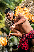 Performer at the Polynesian Center in Hawaii.