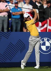 Team Europe's Tommy Fleetwood during preview day four of the Ryder Cup at Le Golf National, Saint-Quentin-en-Yvelines, Paris. PRESS ASSOCIATION Photo. Picture date: Thursday September 27, 2018. See PA story GOLF Ryder. Photo credit should read: David Davies/PA Wire. RESTRICTIONS: Editorial use only. No commercial use.