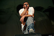 Eslam Jawaad, 29, an Islamic Hip Hop artist, is performing during the 'Palestine - The Album', a music collection recorded by many different artists in the Islamic Hip Hop scene in London, England, on Saturday, Jan. 6, 2007.  Islamic Hip Hop artists like the duo 'Blind Alphabetz', from London, feel more than ever the need to say what they think aloud. In the music industry the backlash of a disputable Western foreign policy towards Islamic countries and its people is strong. The number of artists in the European Union and the US taking this into consideration and addressing the current social and political problems within their lyrics is growing rapidly and fostering awareness for Muslim and others alike.