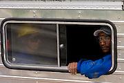 Santos Dumont_MG, Brasil...Operarios, que trabalham na eletrificacao rural, em um caminhao proximo a Santos Drumont...Workers, working in rural electrification, in a truck near to Santos Drumont. ..Foto: LEO DRUMOND / NITRO