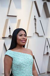 Oscar® nominee Yalitza Aparicio arrives on the red carpet of The 91st Oscars® at the Dolby® Theatre in Hollywood, CA on Sunday, February 24, 2019.