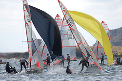 Day 1 of the RYA Youth National Championships 2013 held at Largs Sailing Club, Scotland from the 31st March - 5th April. ..29er, Fleet, 1908, Felix CROWTHER, Paddy KEECH, QMSC,.2023, Rory ROSE, Callum, SYMMONS, Aberdeen & Stonehaven YC\..For Further Information Contact..Matt Carter.Racing Communications Officer.Royal Yachting Association.M: 07769 505203.E: matt.carter@rya.org.uk ..Image Credit Marc Turner / RYA..