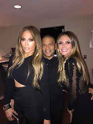 """Heidi Klum releases a photo on Twitter with the following caption: """"""""Love you @jlo ...❤️Your show was absolutely AMAZING  #vegas #allihave"""""""". Photo Credit: Twitter *** No USA Distribution *** For Editorial Use Only *** Not to be Published in Books or Photo Books ***  Please note: Fees charged by the agency are for the agency's services only, and do not, nor are they intended to, convey to the user any ownership of Copyright or License in the material. The agency does not claim any ownership including but not limited to Copyright or License in the attached material. By publishing this material you expressly agree to indemnify and to hold the agency and its directors, shareholders and employees harmless from any loss, claims, damages, demands, expenses (including legal fees), or any causes of action or allegation against the agency arising out of or connected in any way with publication of the material."""