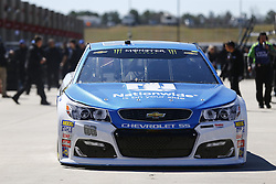 March 3, 2017 - Hampton, Georgia, United States of America - March 03, 2017 - Hampton, Georgia, USA: Dale Earnhardt Jr. (88) heads out of the garage to practice for the Folds of Honor QuikTrip 500 at Atlanta Motor Speedway in Hampton, Georgia. (Credit Image: © Justin R. Noe Asp Inc/ASP via ZUMA Wire)