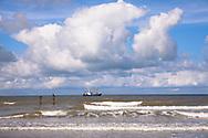 fishing boat near Domburg on the peninsula Walcheren, Zeeland, Netherlands.<br /> <br /> Fischkutter vor Domburg auf Walcheren, Zeeland, Niederlande.