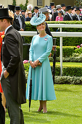 HRH The COUNTESS OF WESSEX at day two of the Royal Ascot 2016 Racing Festival at Ascot Racecourse, Berkshire on 15th June 2016.
